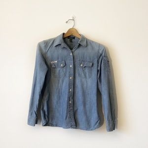 LRL Ralph Lauren denim button shirt Small petite